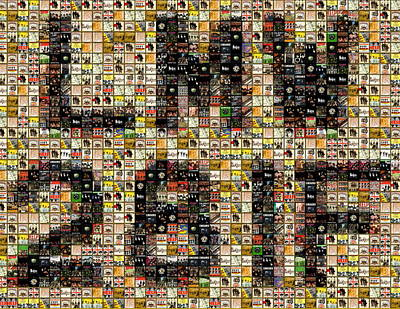 Abbey Road License Plate Mosaic Poster