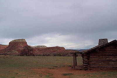 Poster featuring the photograph Abiquiu Cabin by Susan Alvaro