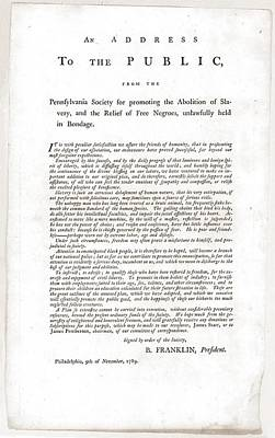 Abolitionist Address By Benjamin Poster