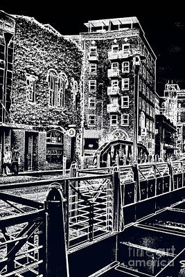Poster featuring the photograph Above The River-walk by Joe Finney