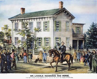 Abraham Lincolns Home Poster by Granger