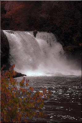Abrams Falls In Autumn Poster by DigiArt Diaries by Vicky B Fuller
