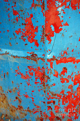 Abstrac Texture Of The Paint Peeling Iron Drum Poster by Antoni Halim