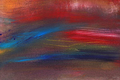 Abstract - Guash - Savana Poster by Mike Savad