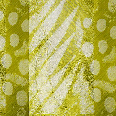 Abstract 204 Green Square Poster by Ann Powell