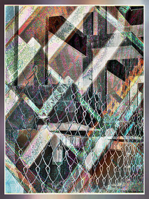 Poster featuring the digital art Abstract Concrete by Ginny Schmidt