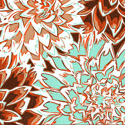 Abstract Flowers 12 Poster by Sumit Mehndiratta