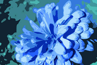 Abstract Flowers 2 Poster