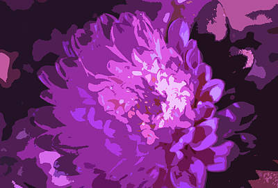 Abstract Flowers 3 Poster