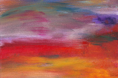 Abstract - Guash And Acrylic - Pleasant Dreams Poster by Mike Savad