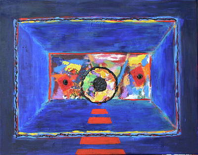 Poster featuring the painting Abstract Interior by Karin Eisermann