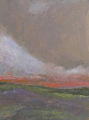 Abstract Landscape - Scarlet Light Poster by Kathleen Grace