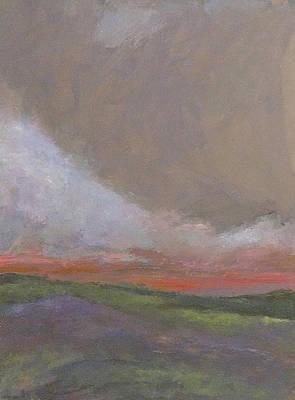 Abstract Landscape - Scarlet Light Poster