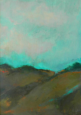 Abstract Landscape - Turquoise Sky Poster by Kathleen Grace
