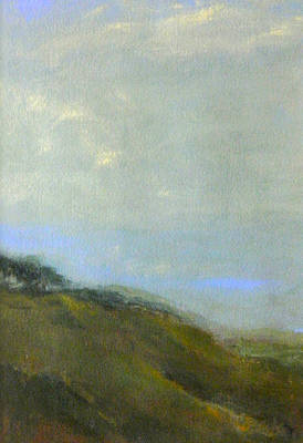 Abstract Landscape - Green Hillside Poster by Kathleen Grace