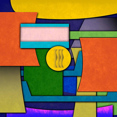 Abstract Shapes Color One Poster by Gary Grayson