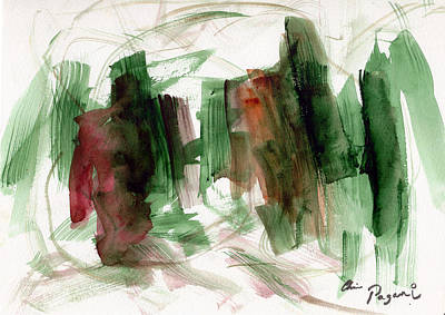 Poster featuring the painting Abstract Watercolor 51 by Chriss Pagani
