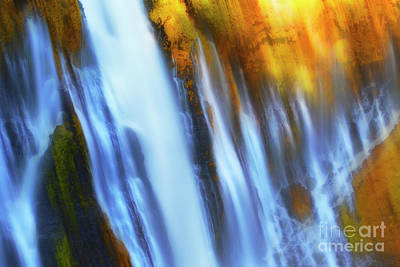 Abstract Waterfalls Poster by Keith Kapple