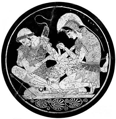 Achilles Tending Patroclus Wounds Poster