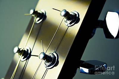 Acoustic Guitar Head Poster