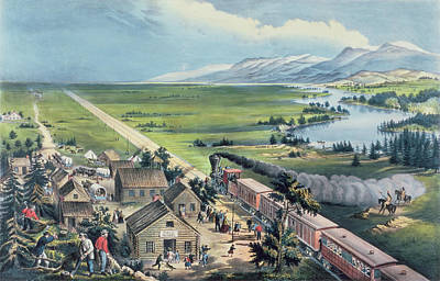Across The Continent Poster by Currier and Ives