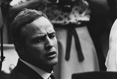 Actor Marlon Brando At The 1963 Civil Poster by Everett