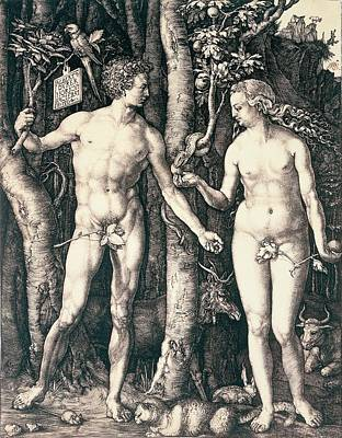 Adam And Eve Poster by Albrecht Durer