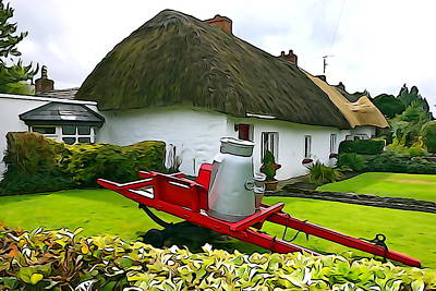 Poster featuring the photograph Adare Cottage by Charlie and Norma Brock