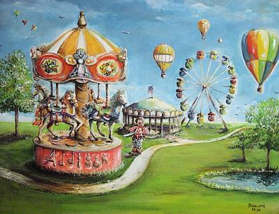 Poster featuring the painting Carnival by Bernadette Krupa