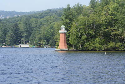 Poster featuring the photograph Adirondack Lighthouse by Ann Murphy