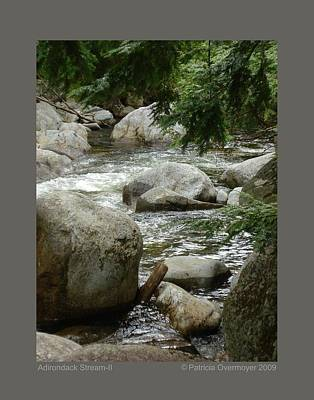 Poster featuring the photograph Adirondack Stream-ii by Patricia Overmoyer