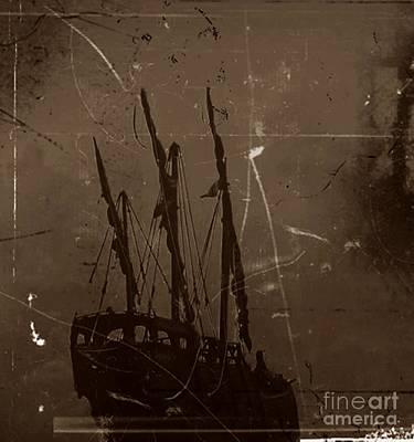 Adrift In A Sea Mist Poster by Blair Stuart
