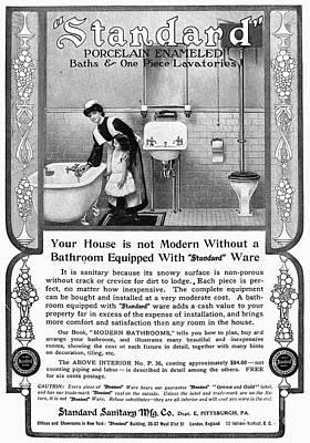 Ads: Bathroom, 1905 Poster