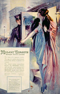 Advertisement For Modart Corsets, 1920 Poster by Everett