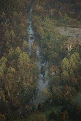 Aerial View Of Bull Run Near The Famous Poster by Sam Abell