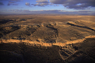 Aerial View Of Chaco Canyon And Ruins Poster by Ira Block