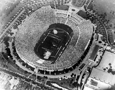 Aerial View Of Opening Day Games Poster