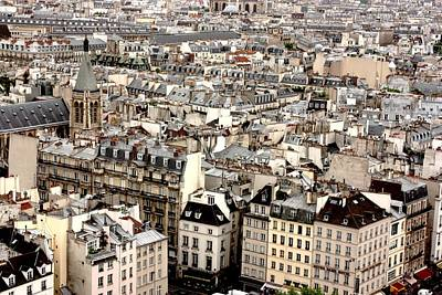 Aerial View Of Paris Poster by Landscape and urban landscape