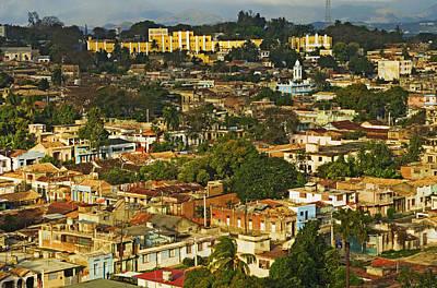 Aerial View Of Santiago De Cuba, Cuba Poster by Axiom Photographic