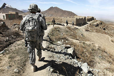 Afghan National Army And U.s. Soldiers Poster by Stocktrek Images