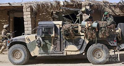 Afghan National Army Soldiers Prepare Poster by Stocktrek Images