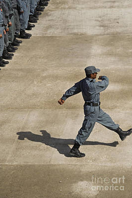 Afghan National Policemen Participate Poster by Stocktrek Images