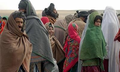 Afghani Refugees In Sakhi Camp Poster