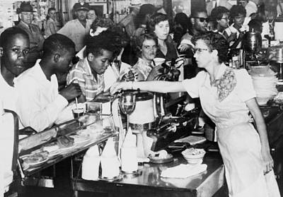 African American Being Served At Kress Poster