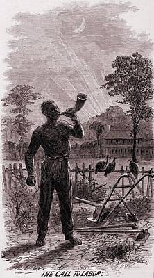 African American Blowing The Wake-up Poster by Everett