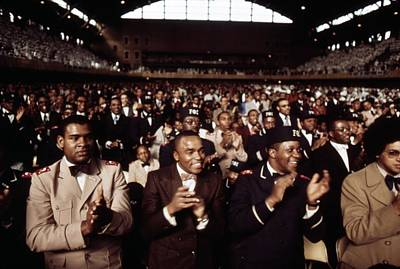 African American Men Applaud Black Poster