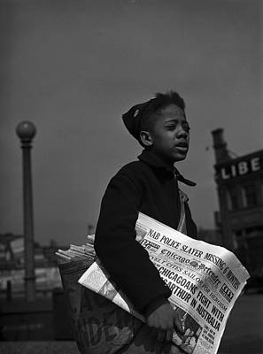 African American Newsboy, Original Poster by Everett