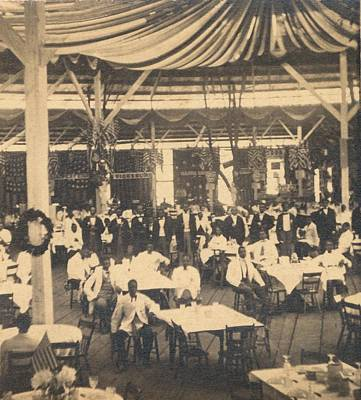 African American Waiters At A Banquet Poster