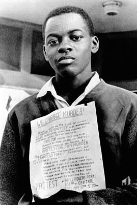 African American Youth Protests Poster by Everett