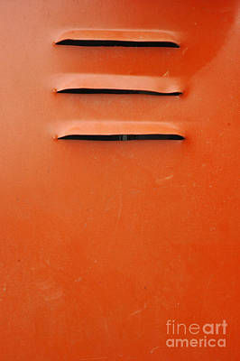 Air Holes In The Orange Iron Wall Poster